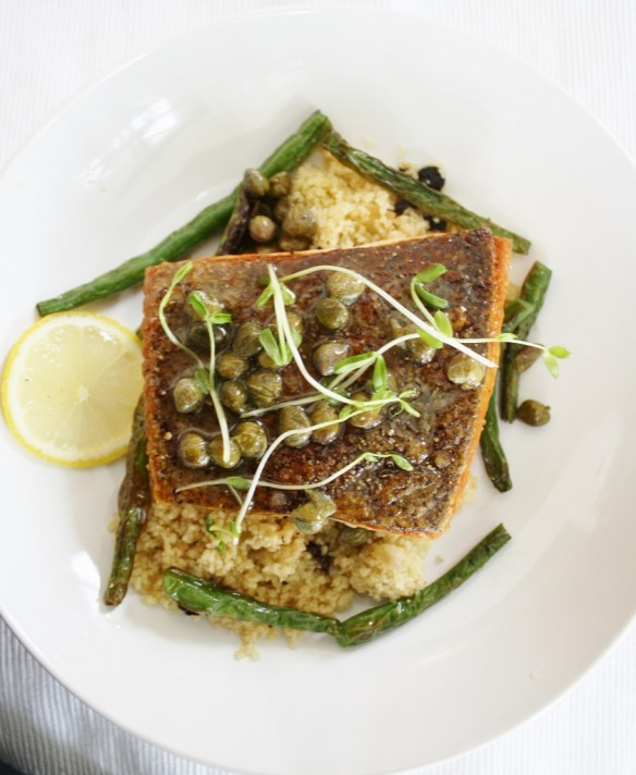 Crispy Skin Arctic Char with Couscous