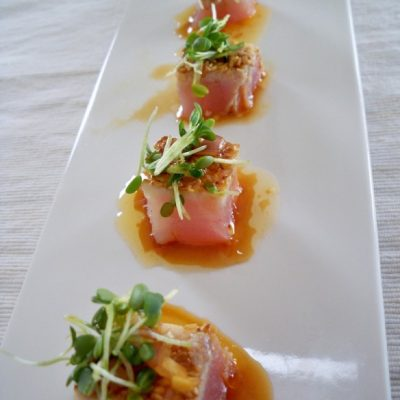 Tuna Tataki with ginger dressing