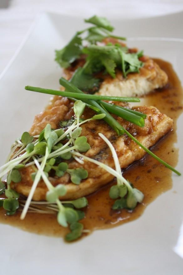 Tofu and Shrimp Steak