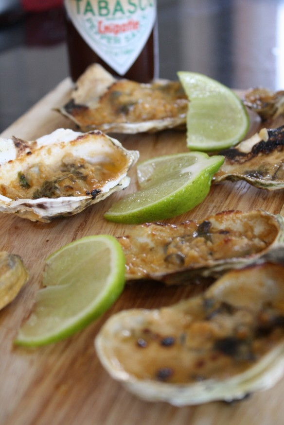 Spicy Tequlia Oysters