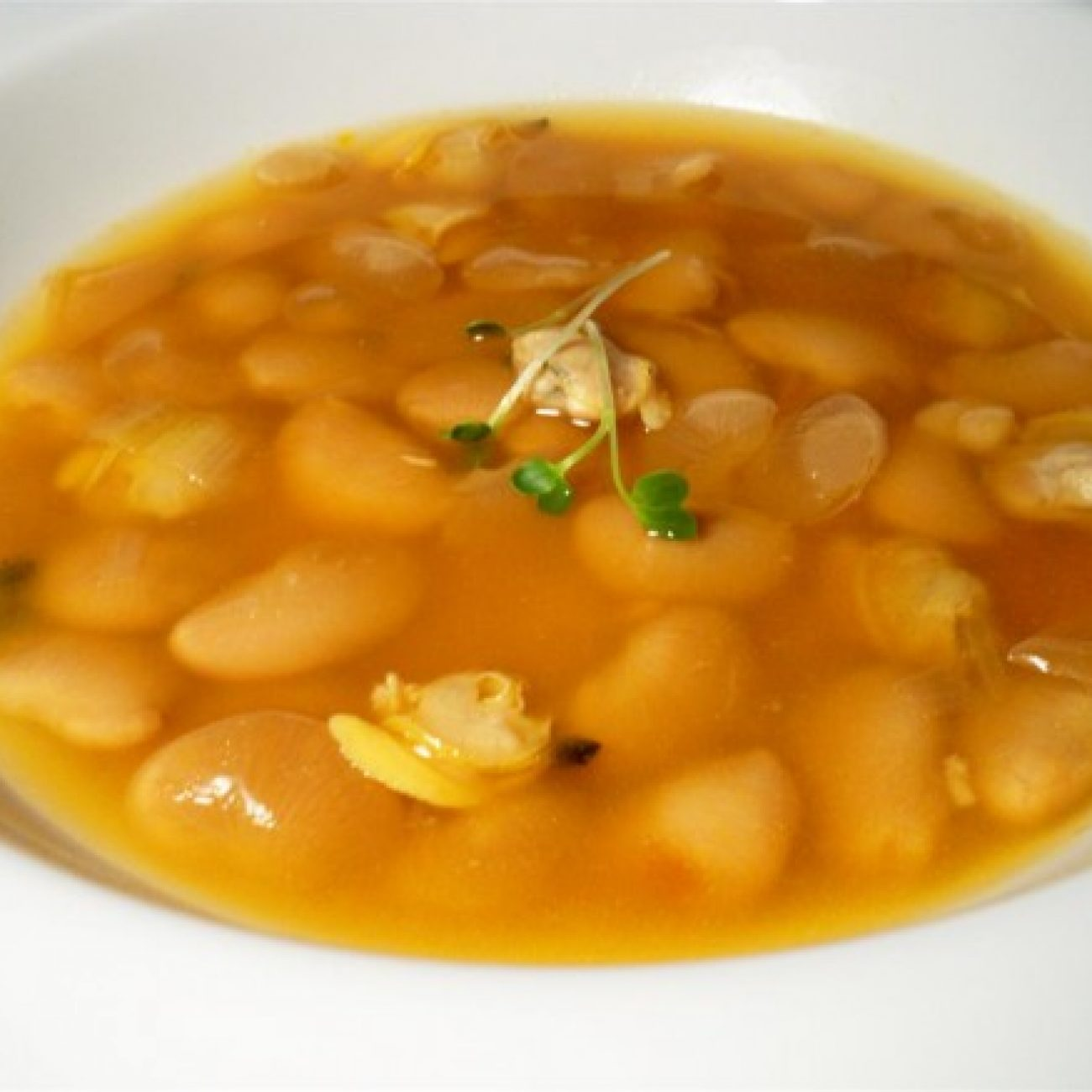 Asturian Bean Stew with Clams