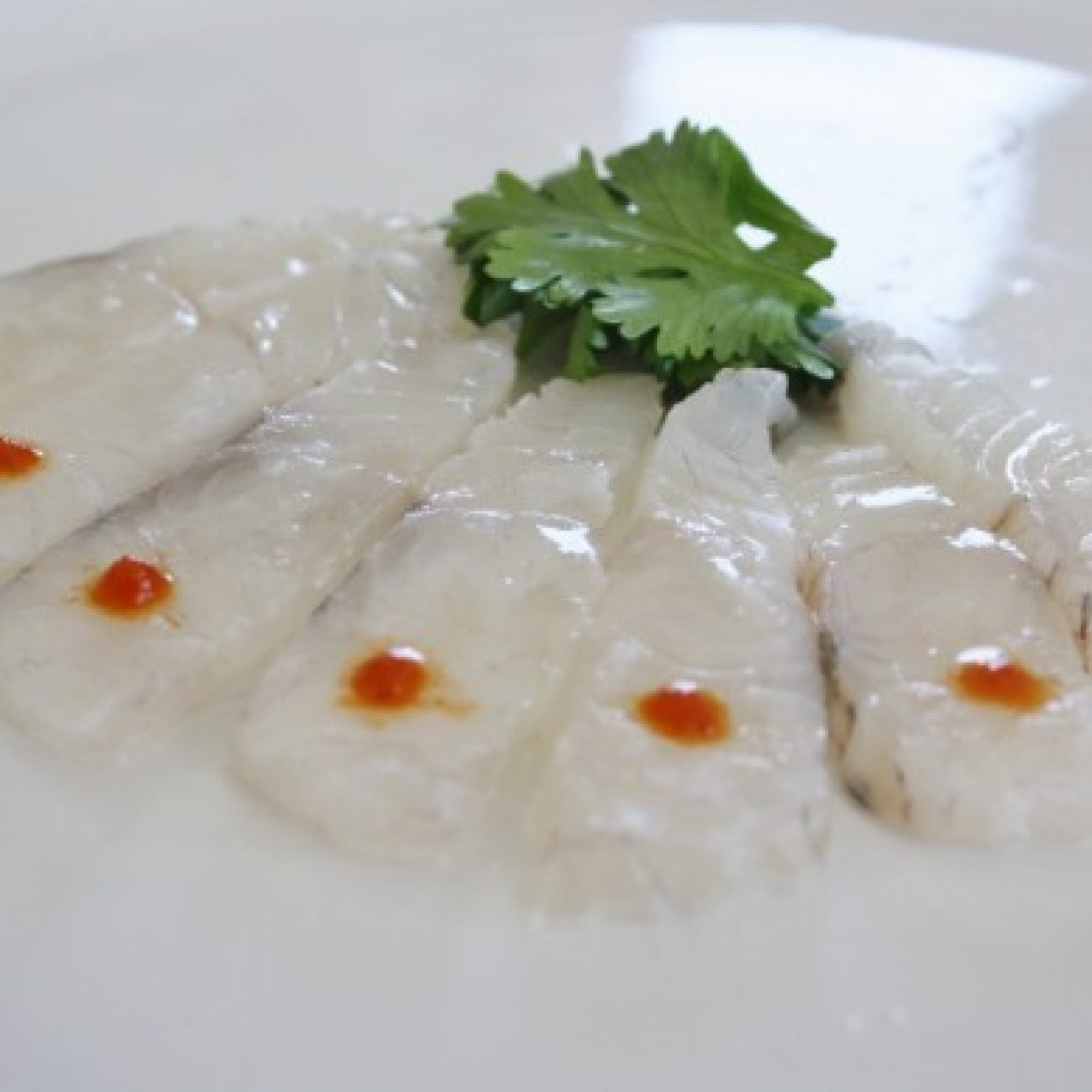 Fluke Sashimi with Yuzu and Cilantro