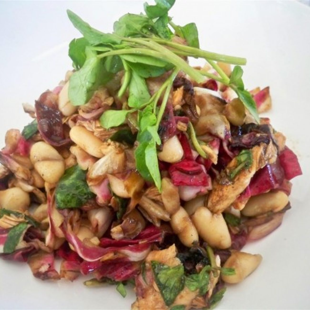 White Bean and Grilled Salmon Salad