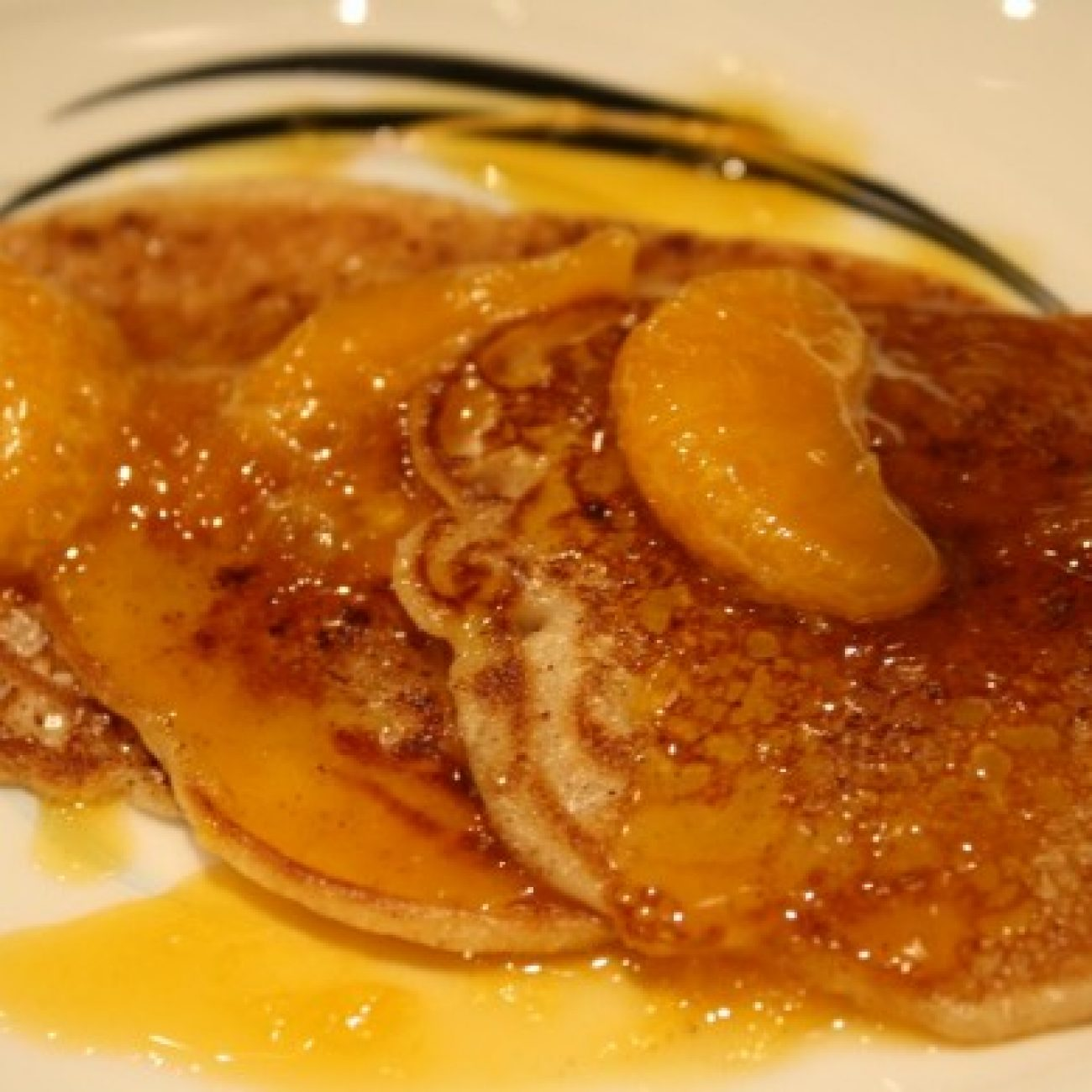 Oranged Glazed no egg no milk Pancakes