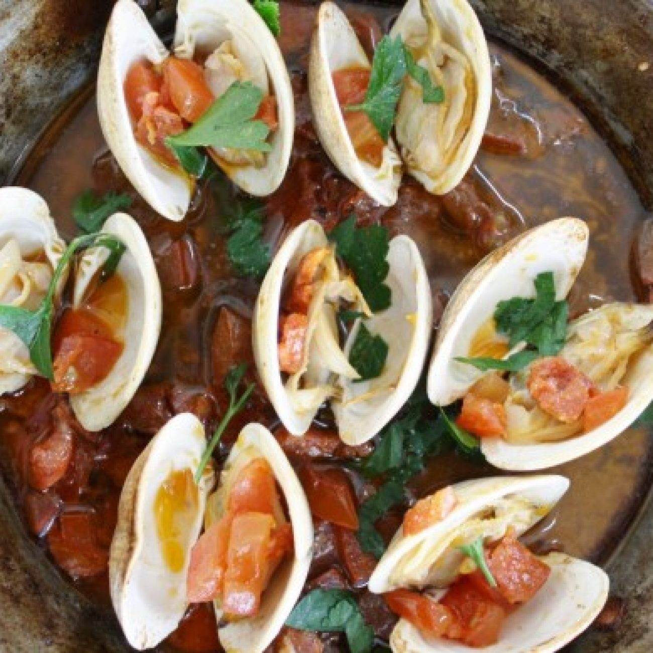 Clams with Tomato and Chorizo
