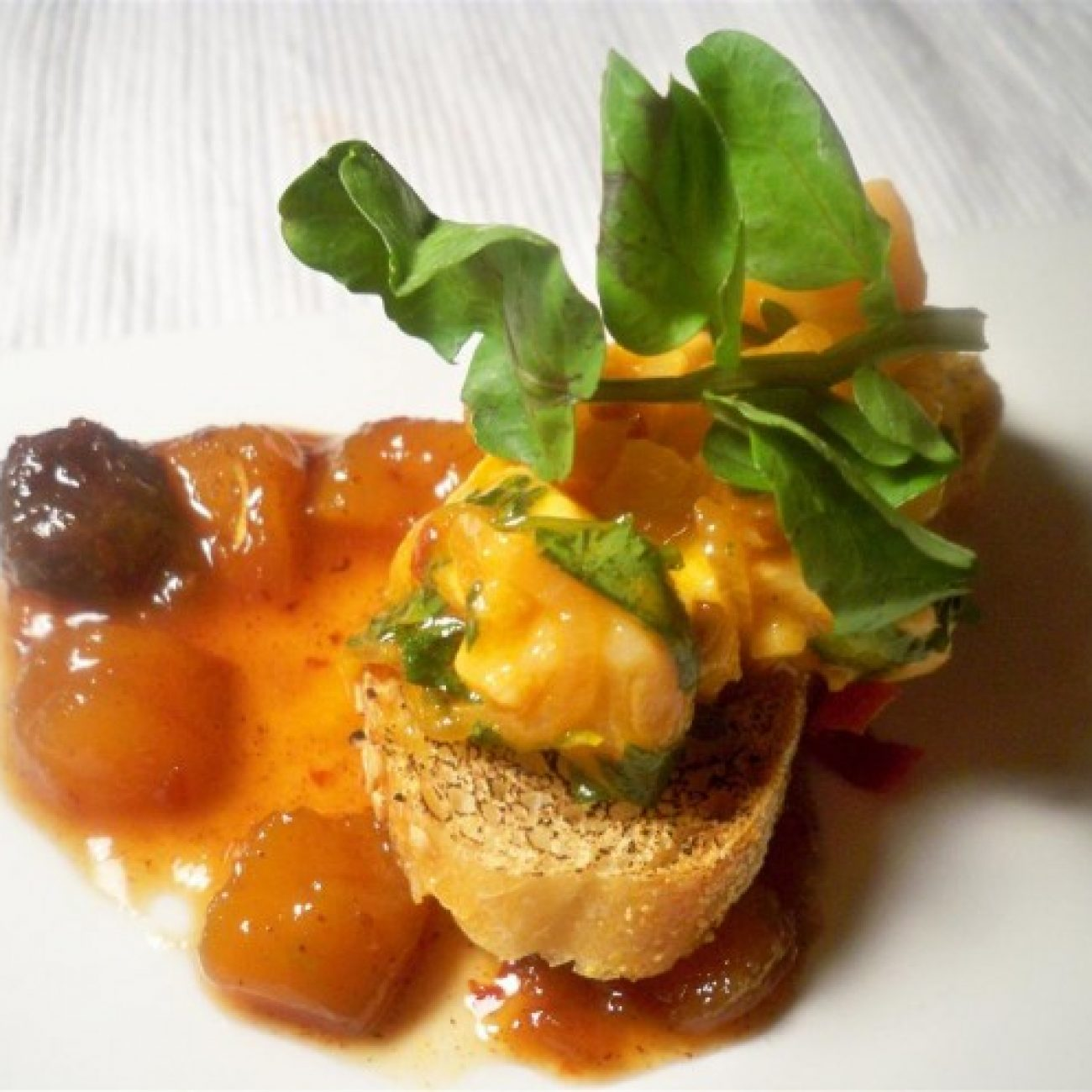 Salmon Ceviche with Mango Chutney