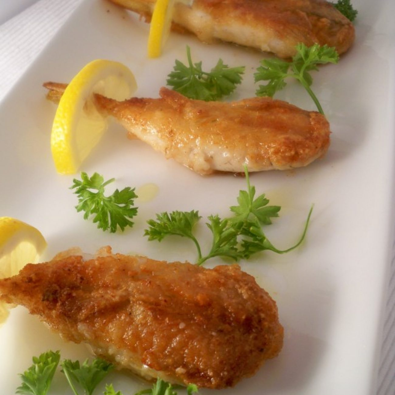 Pan Fried Blow Fish Tails