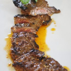 Three Day Marinated Skirt Steak with Smokey Tomato Butter