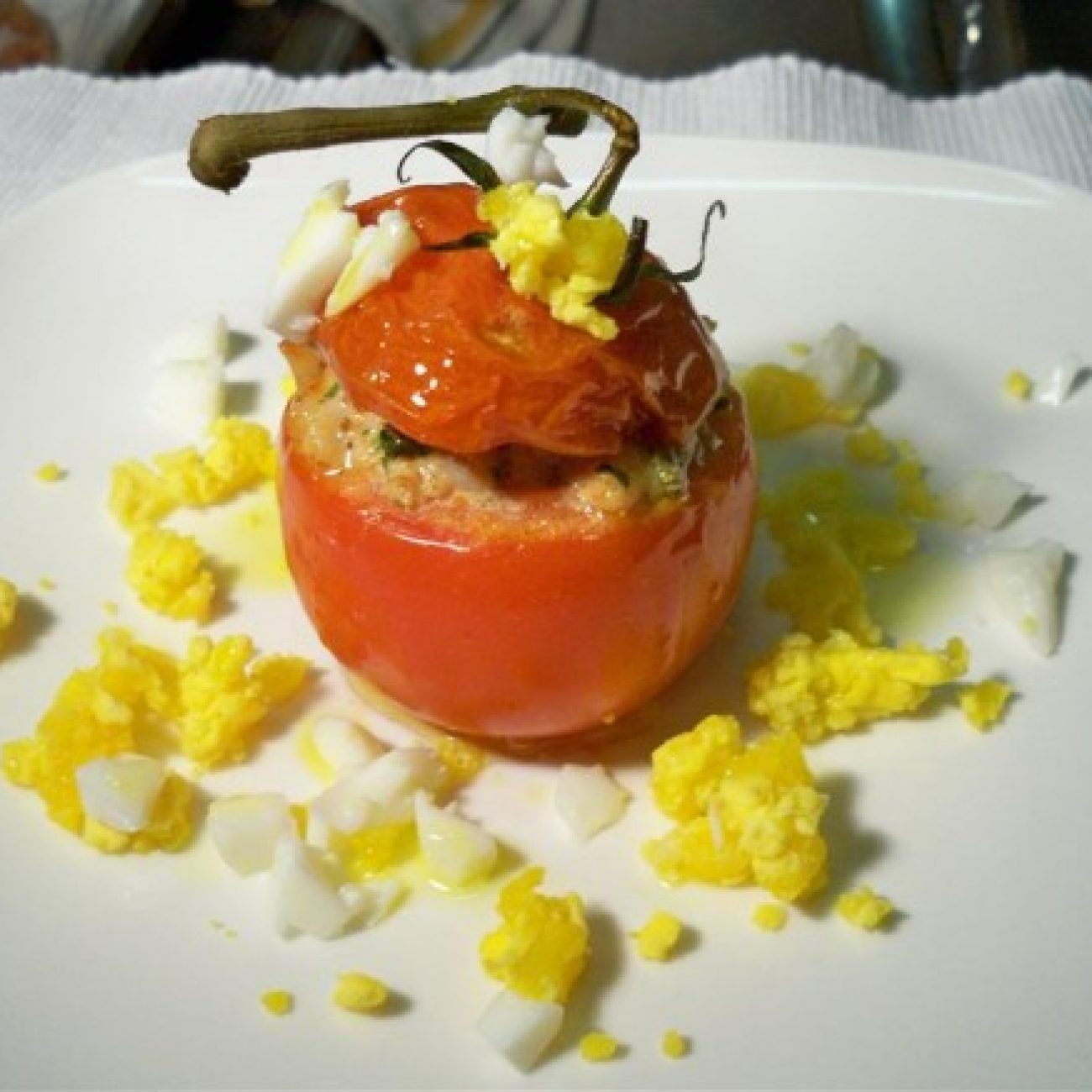 Shrimp Stuffed Tomato
