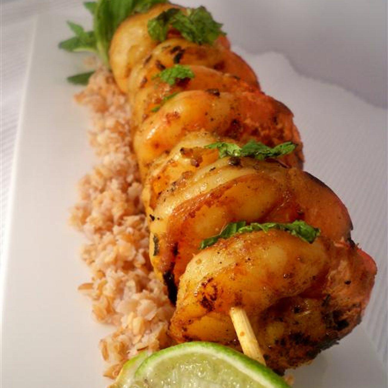 Curry Shrimp with Bulgur Wheat