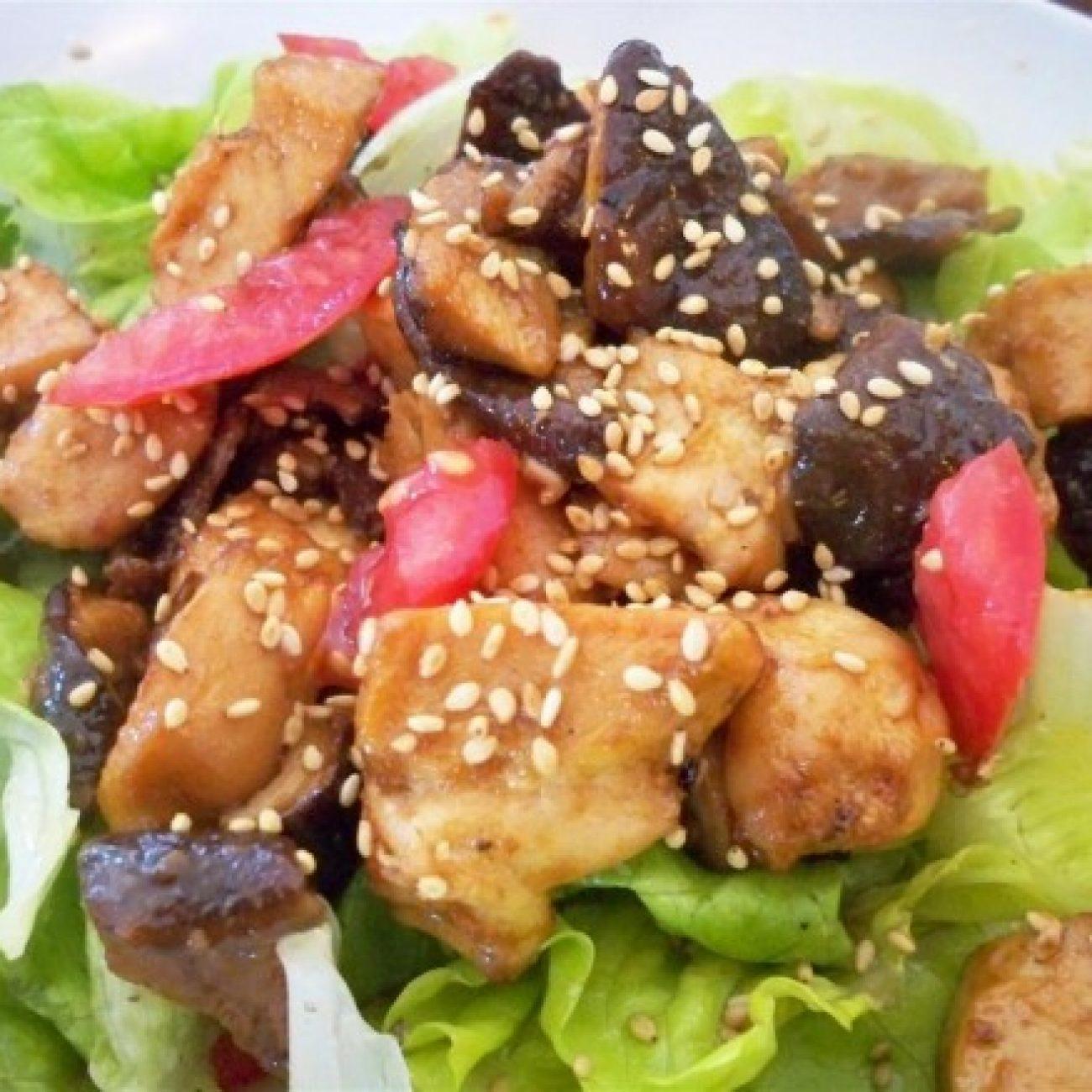 Mushroom and Chicken Salad