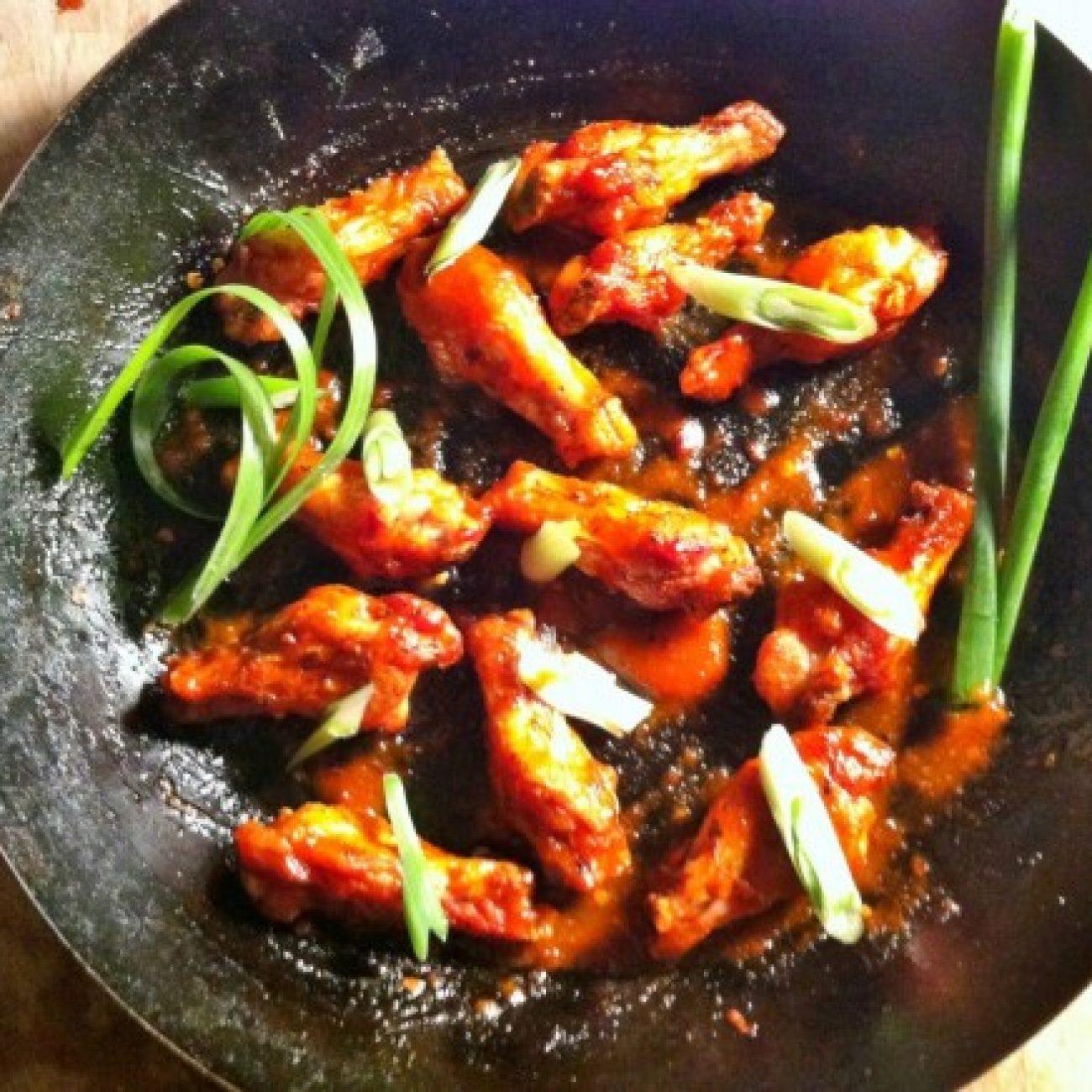 Orange Sriracha Wings