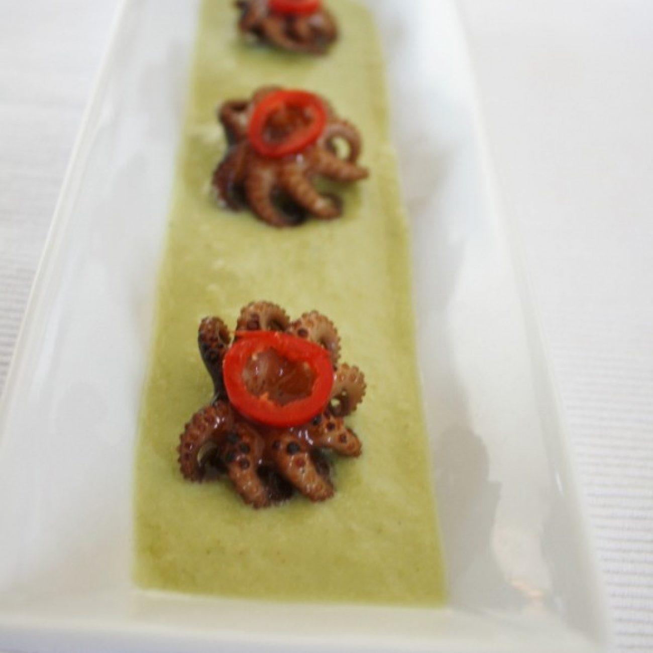 Crispy Octopus and Edamame