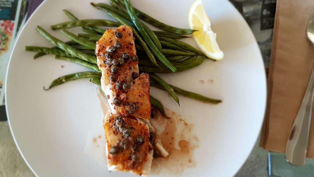 Pan Fried Rockfish with Lemon Caper Butter